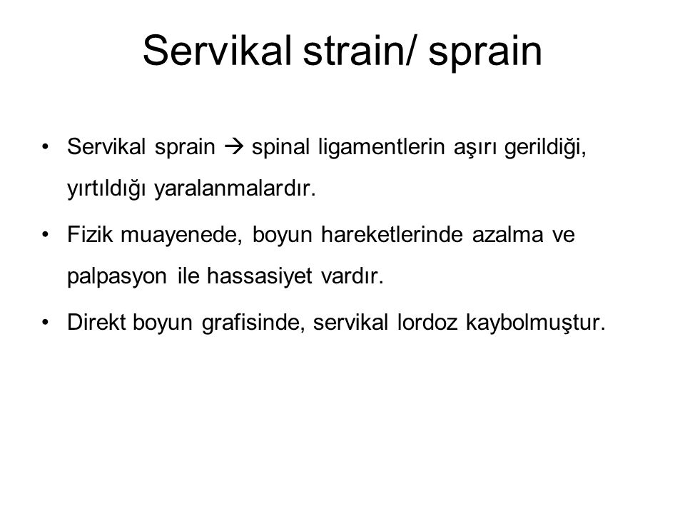 Servikal strain/ sprain