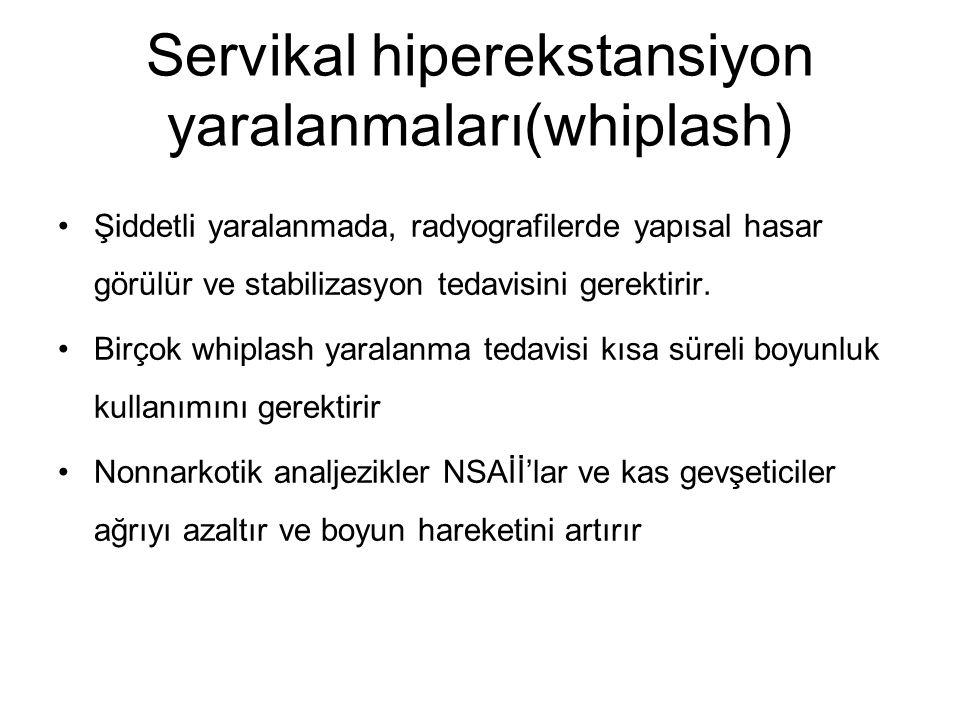 Servikal hiperekstansiyon yaralanmaları(whiplash)