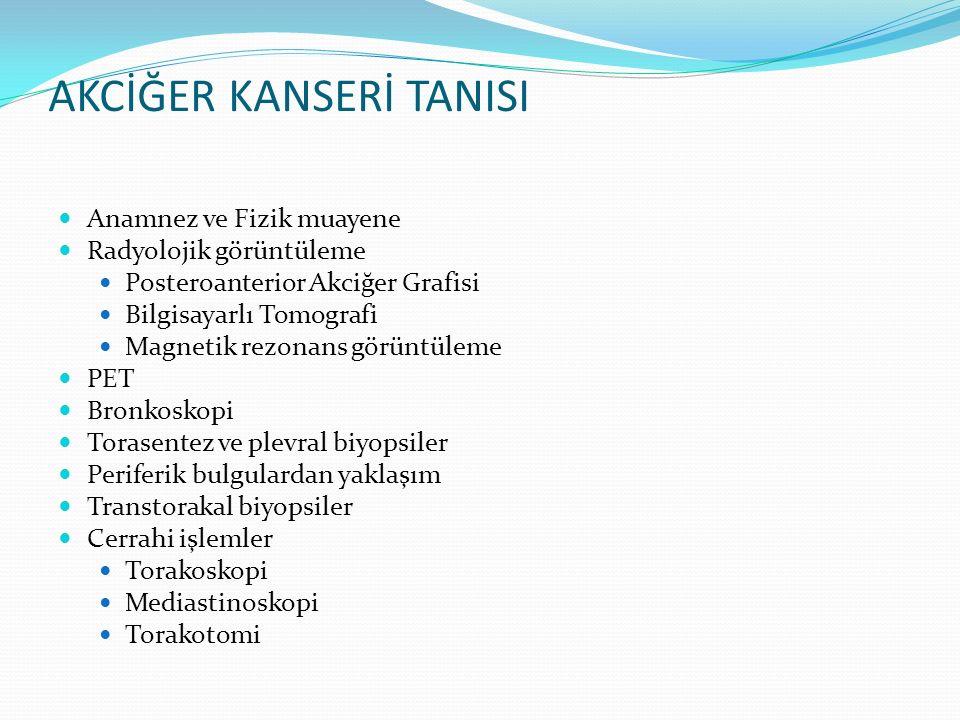 AKCİĞER KANSERİ TANISI