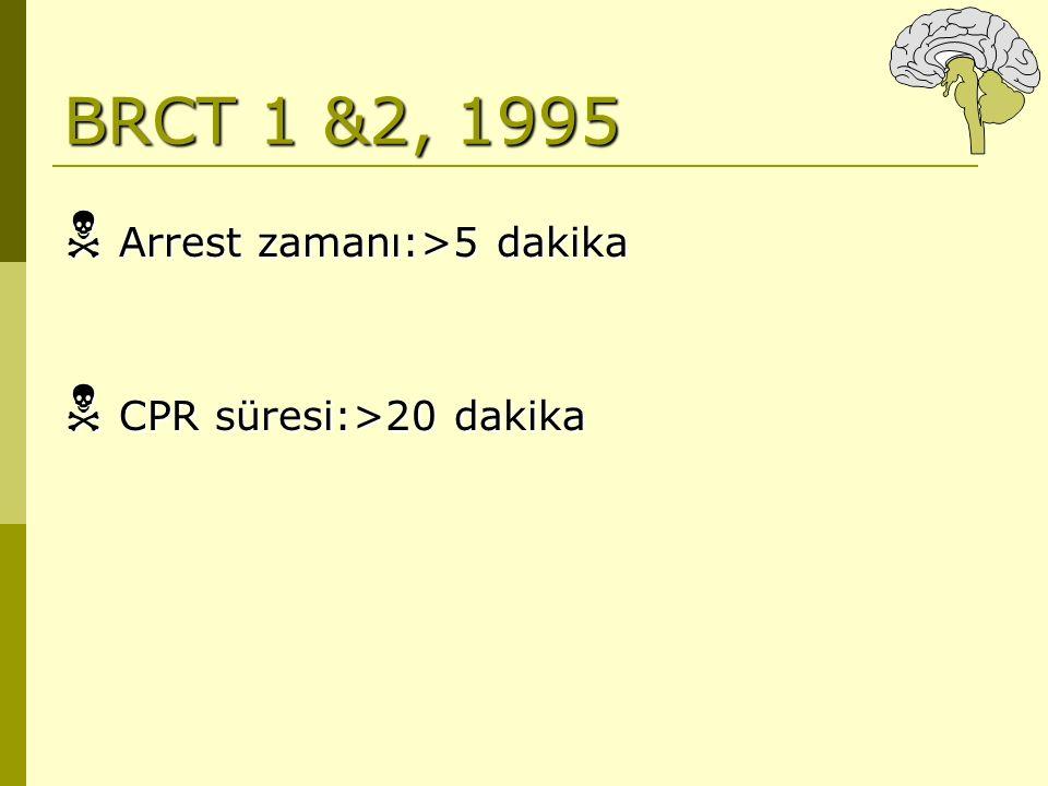 BRCT 1 &2, 1995  Arrest zamanı:>5 dakika