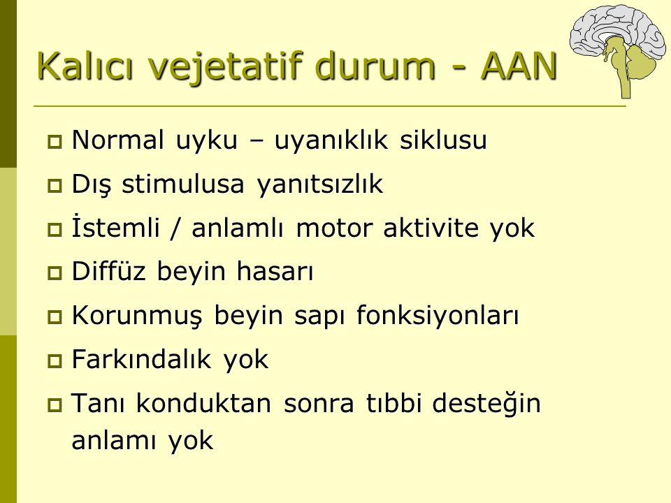 Kalıcı vejetatif durum - AAN