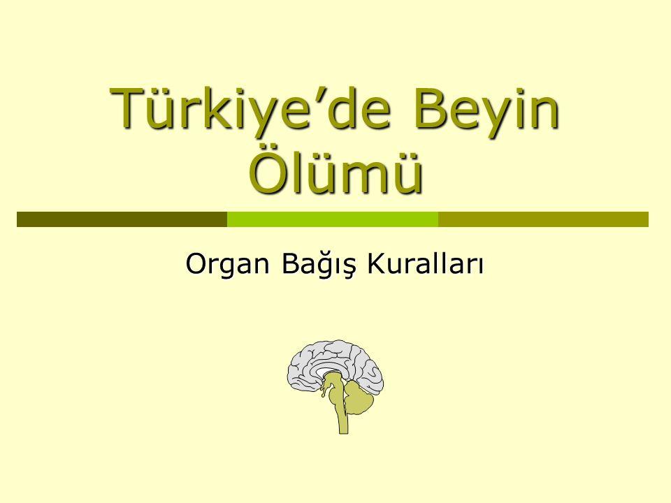 Türkiye'de Beyin Ölümü