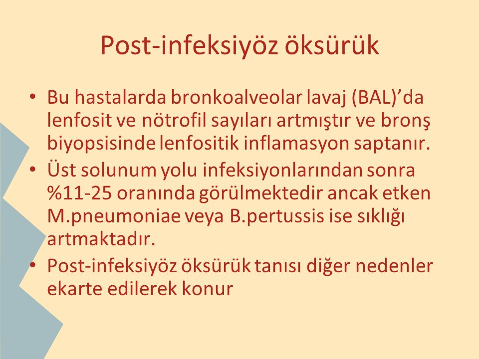 Post-infeksiyöz öksürük