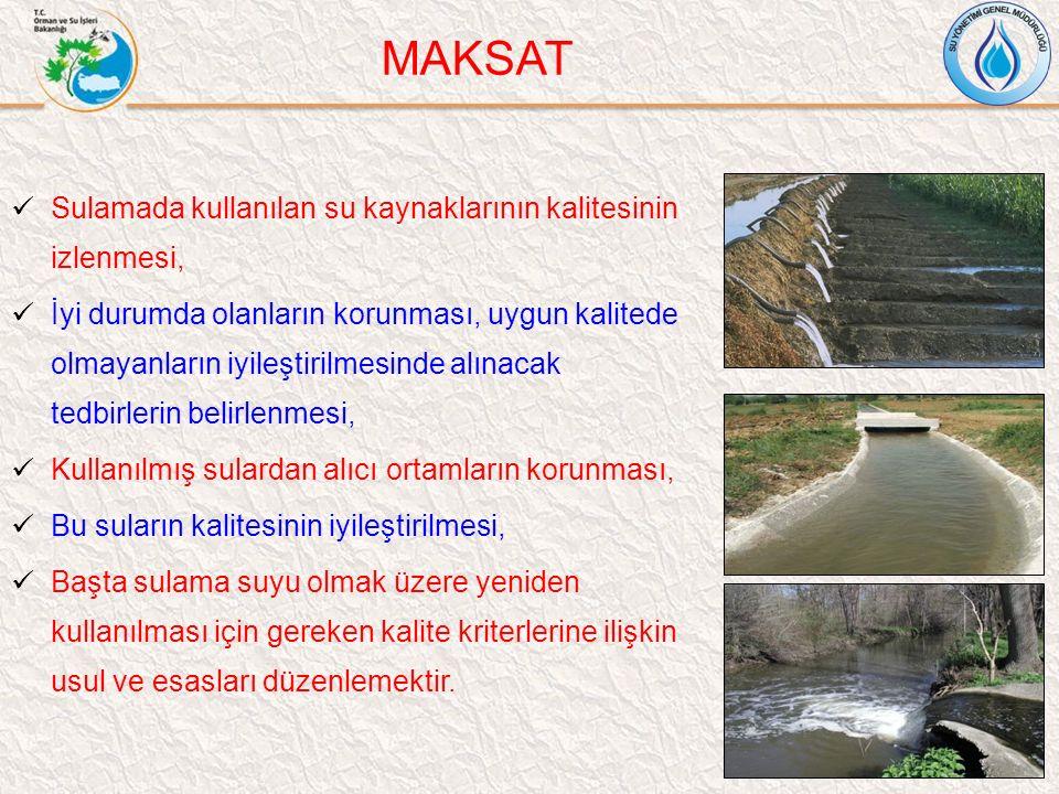MAKSAT Sulamada kullanılan su kaynaklarının kalitesinin izlenmesi,