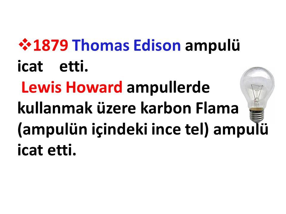1879 Thomas Edison ampulü icat etti