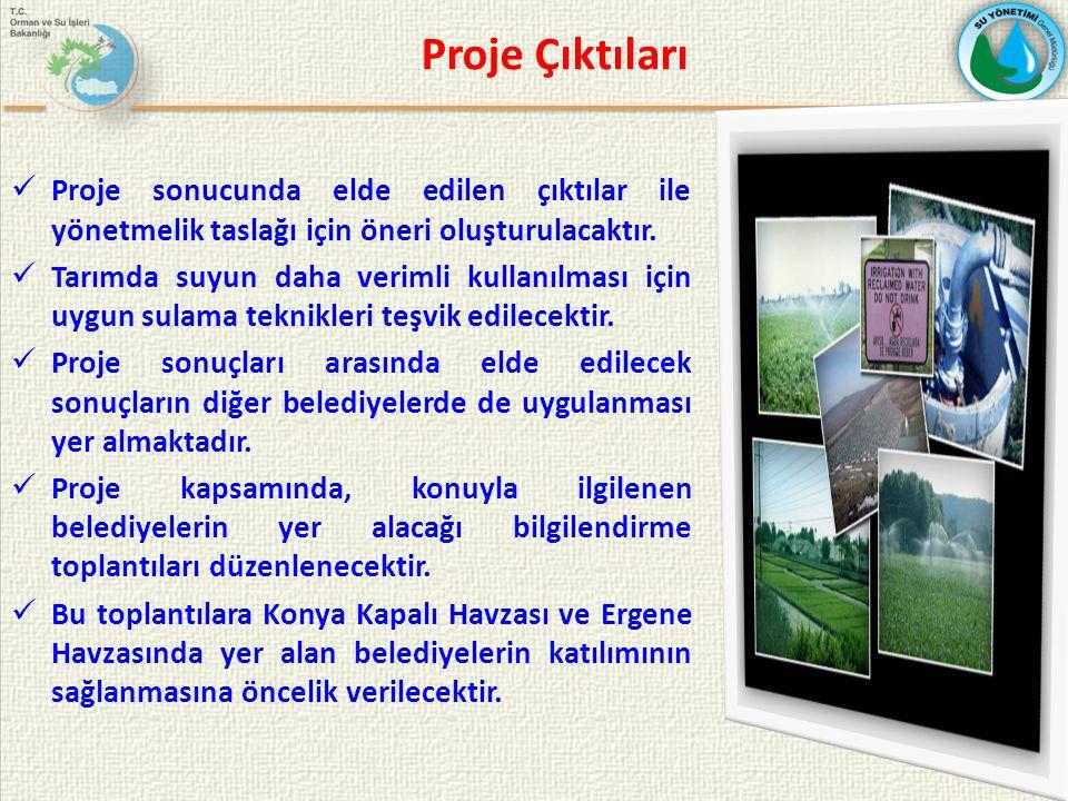 Proje Çıktıları Proje sonucunda elde edilen çıktılar ile yönetmelik taslağı için öneri oluşturulacaktır.