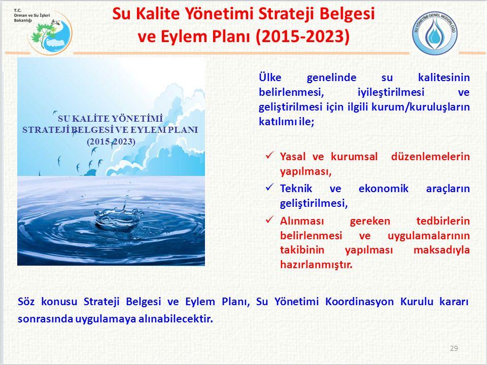 Su Kalite Yönetimi Strateji Belgesi ve Eylem Planı (2015-2023)