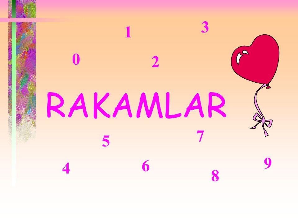 3 1 2 RAKAMLAR 7 5 9 6 4 8