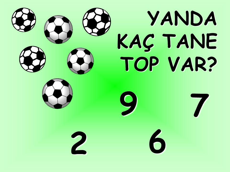 YANDA KAÇ TANE TOP VAR 9 7 6 2