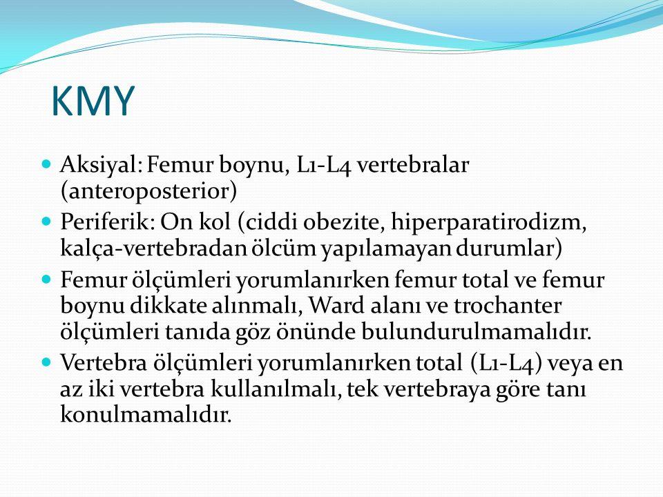 KMY Aksiyal: Femur boynu, L1-L4 vertebralar (anteroposterior)