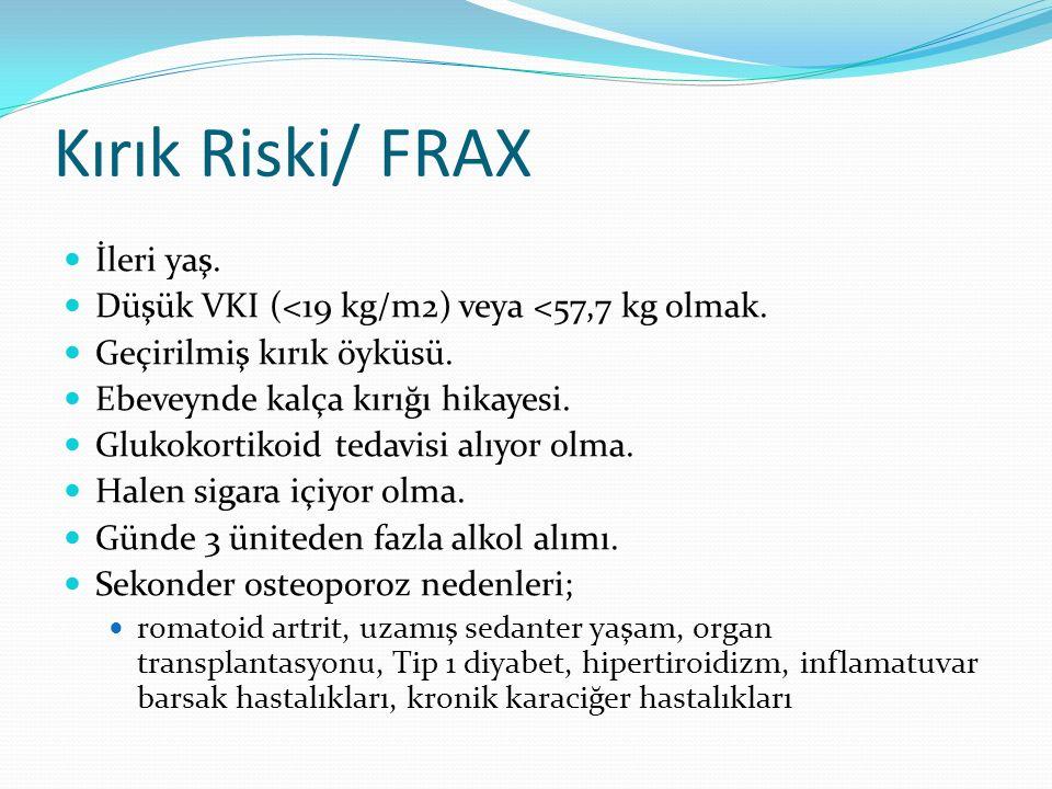 Kırık Riski/ FRAX İleri yaş.