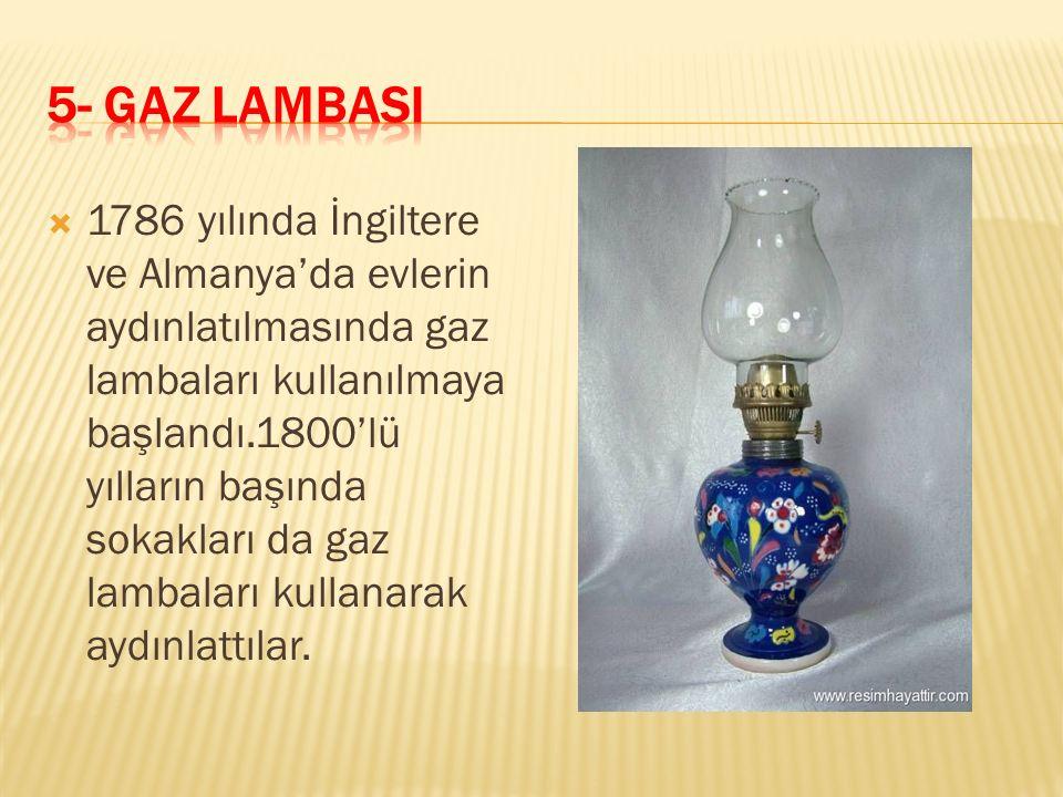 5- GAZ LAMBASI