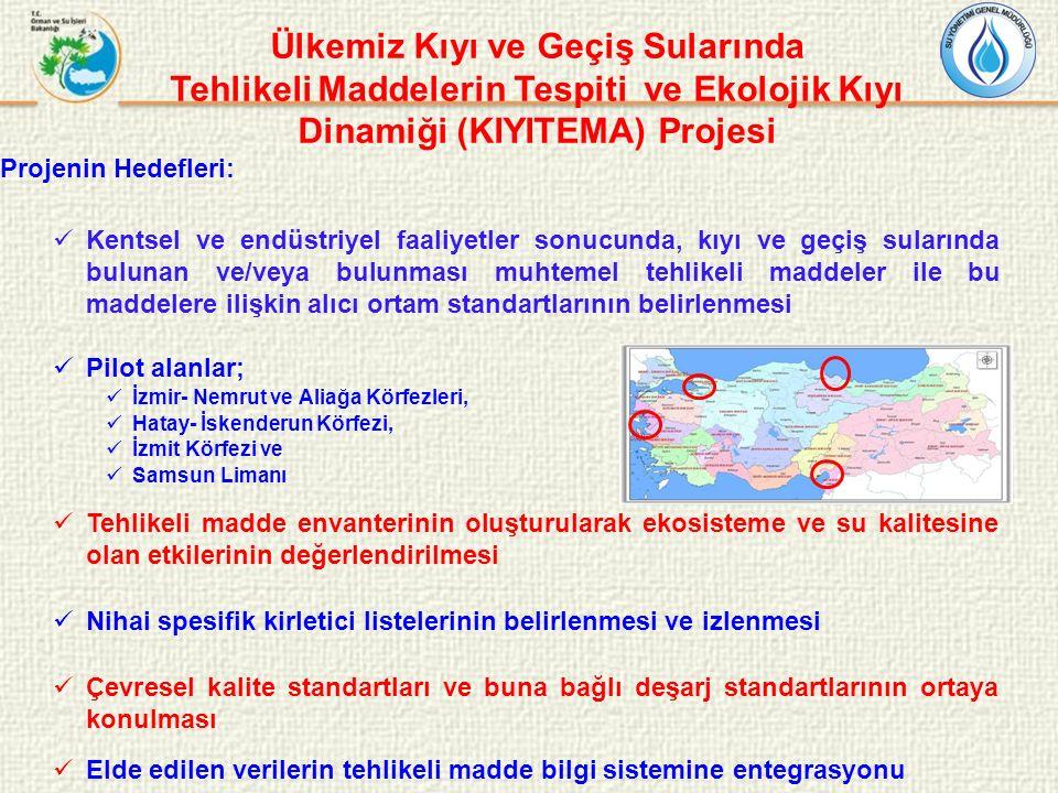 Ülkemiz Kıyı ve Geçiş Sularında Tehlikeli Maddelerin Tespiti ve Ekolojik Kıyı Dinamiği (KIYITEMA) Projesi