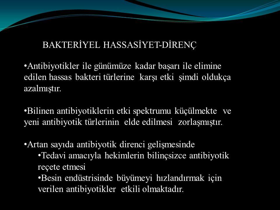 BAKTERİYEL HASSASİYET-DİRENÇ