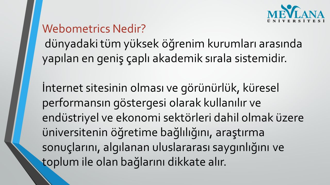 Webometrics Nedir.