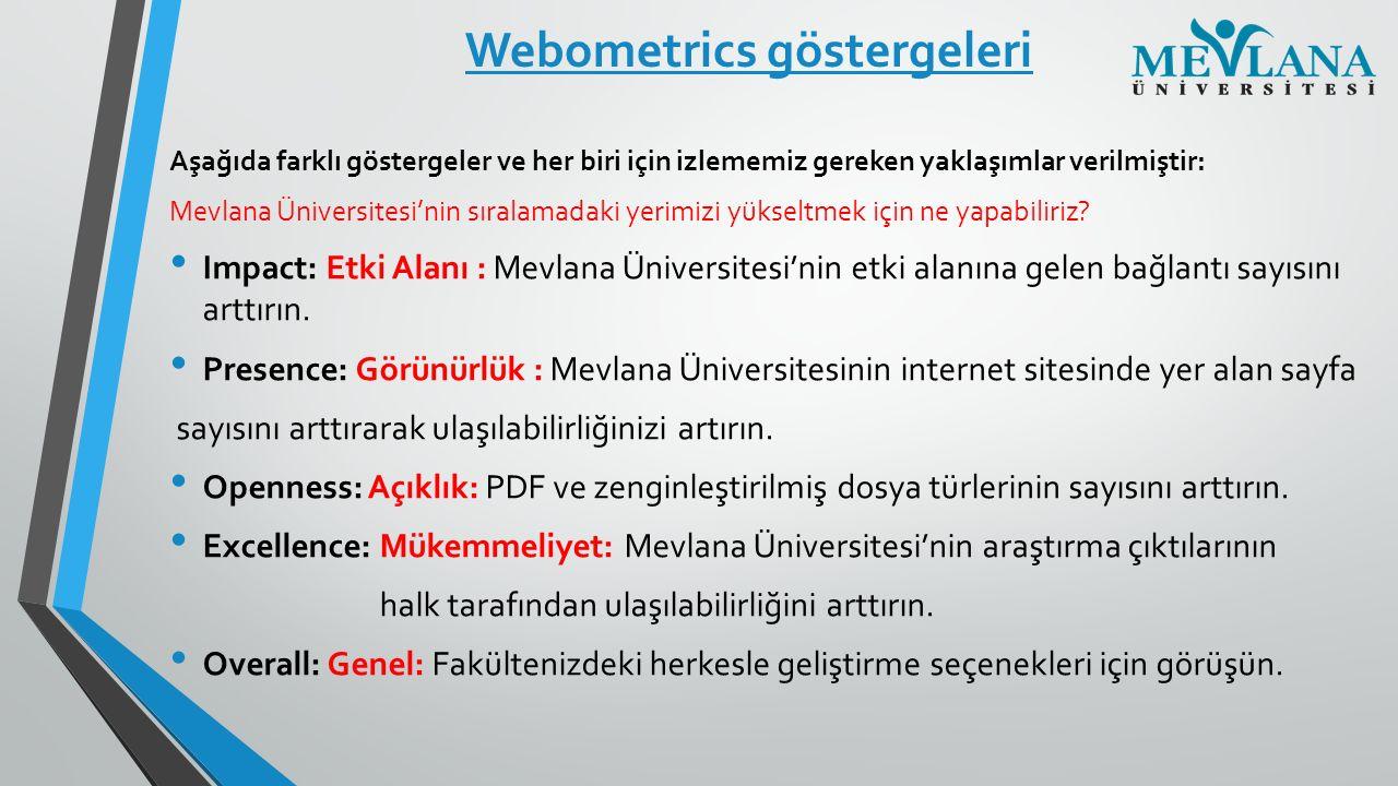 Webometrics göstergeleri