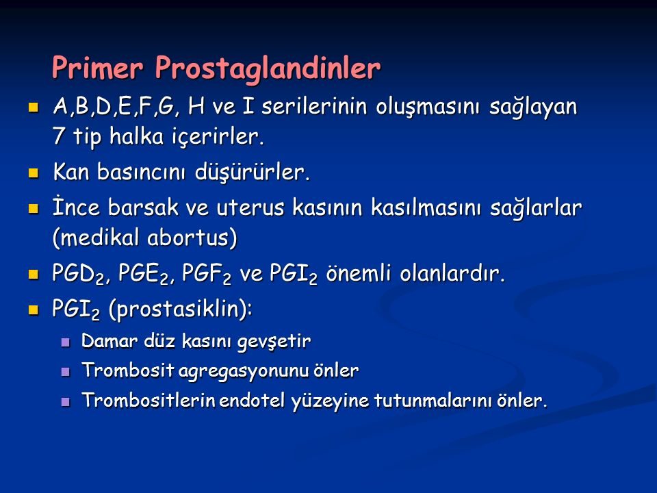 Primer Prostaglandinler