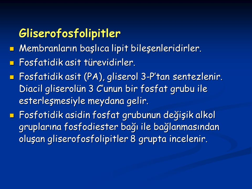 Gliserofosfolipitler