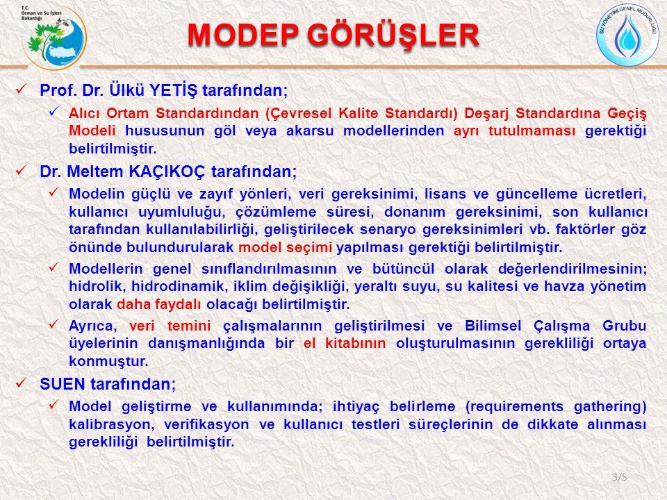 MODEP GÖRÜŞLER Prof. Dr. Ülkü YETİŞ tarafından;