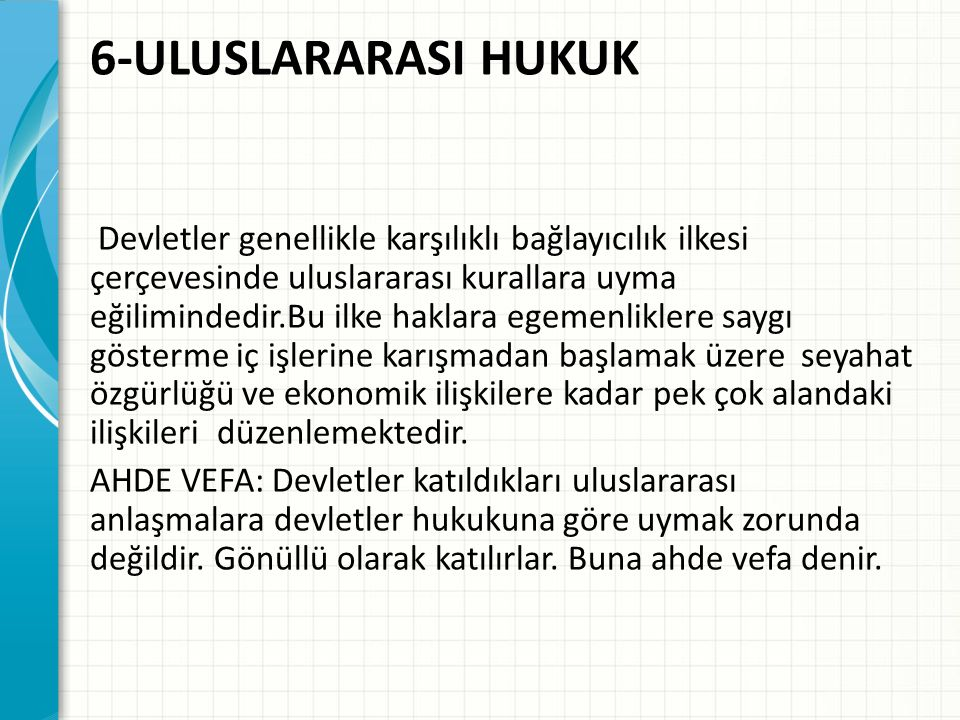 6-ULUSLARARASI HUKUK