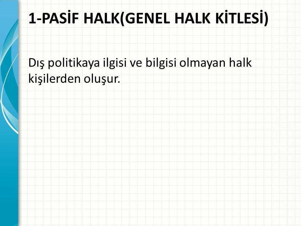 1-PASİF HALK(GENEL HALK KİTLESİ)