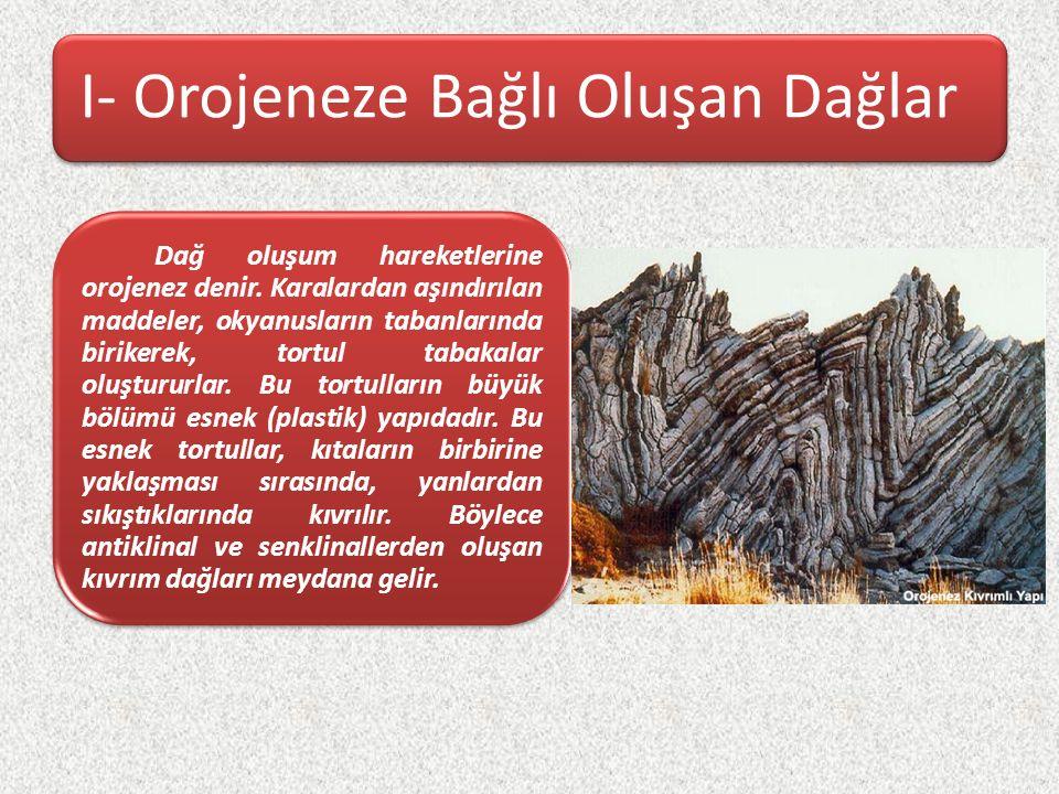 I- Orojeneze Bağlı Oluşan Dağlar