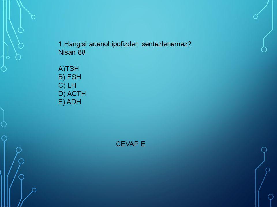 1. Hangisi adenohipofizden sentezlenemez