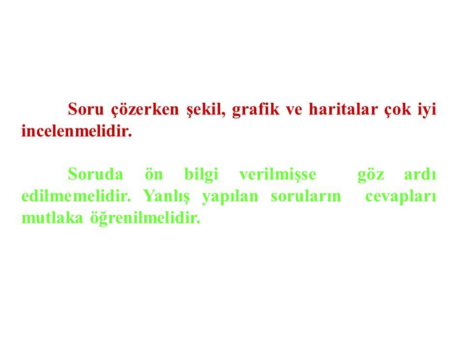 COĞRAFYA DERSİ ÇALIŞIRKEN;