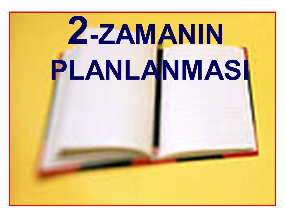 2-ZAMANIN PLANLANMASI