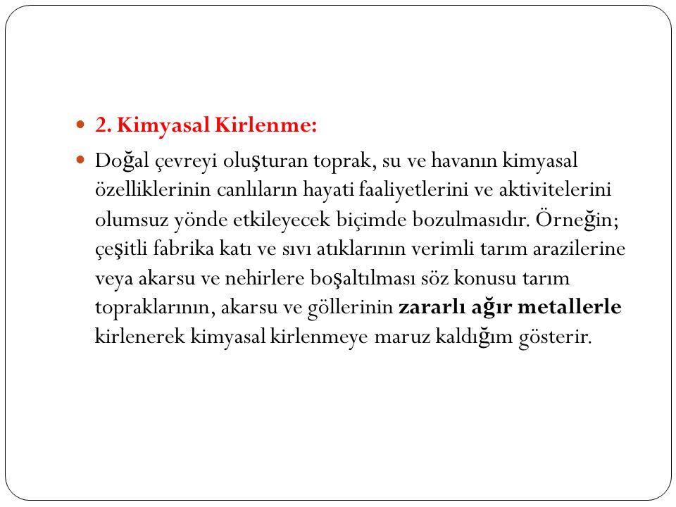 2. Kimyasal Kirlenme: