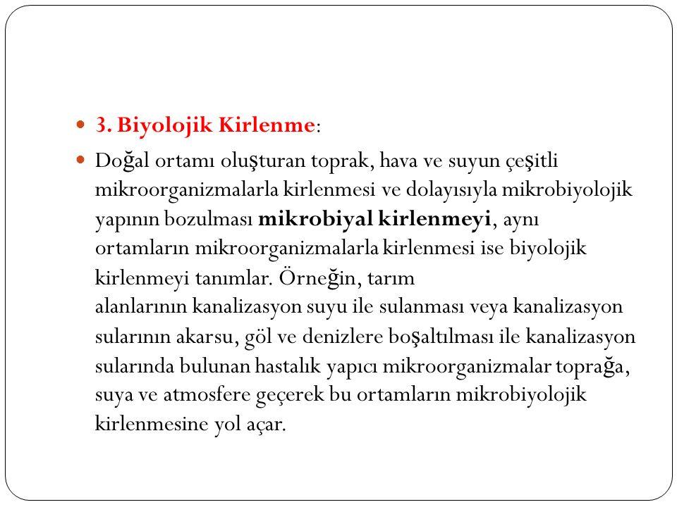 3. Biyolojik Kirlenme: