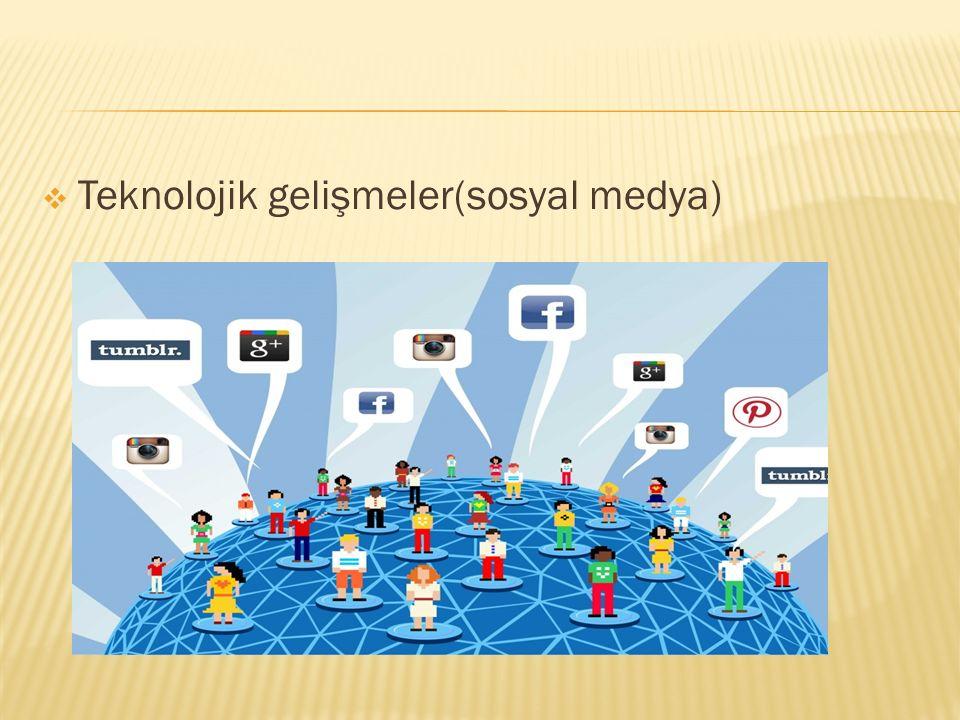 Teknolojik gelişmeler(sosyal medya)