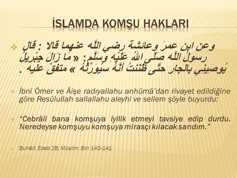 İslamda komşu haklarI