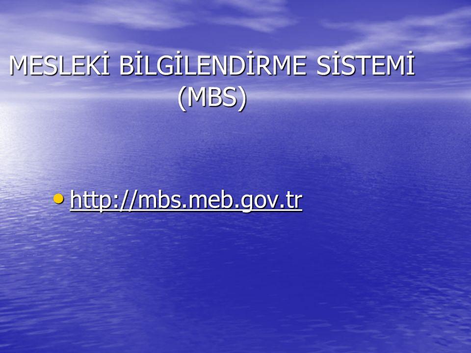 MESLEKİ BİLGİLENDİRME SİSTEMİ (MBS)
