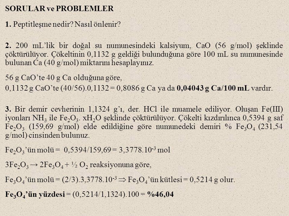 SORULAR ve PROBLEMLER 1. Peptitleşme nedir Nasıl önlenir