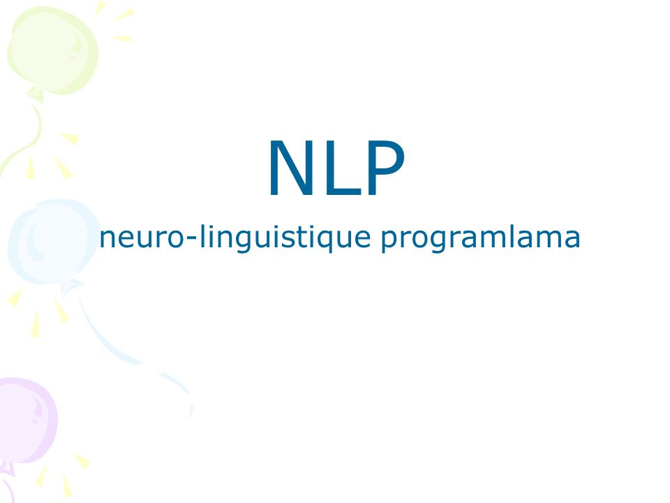neuro-linguistique programlama