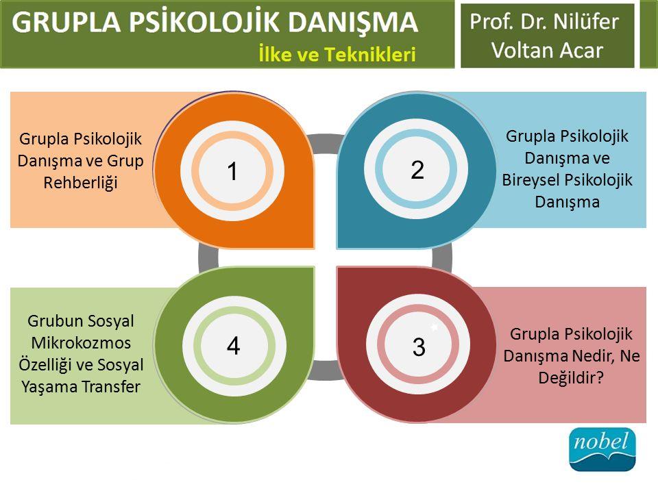 1 2 4 3 Grupla Psikolojik Danışma ve Bireysel Psikolojik Danışma