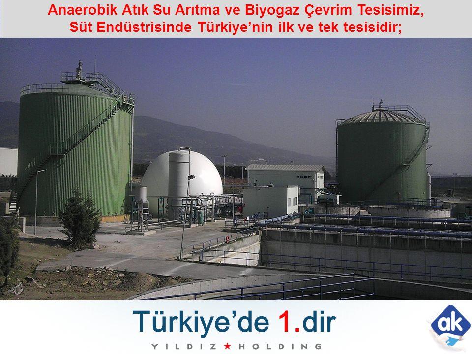 Anaerobik Atık Su Arıtma ve Biyogaz Çevrim Tesisimiz, Süt Endüstrisinde Türkiye'nin ilk ve tek tesisidir;
