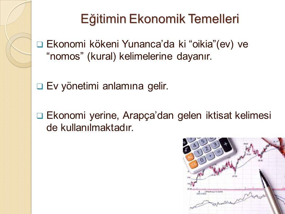 Eğitimin Ekonomik Temelleri