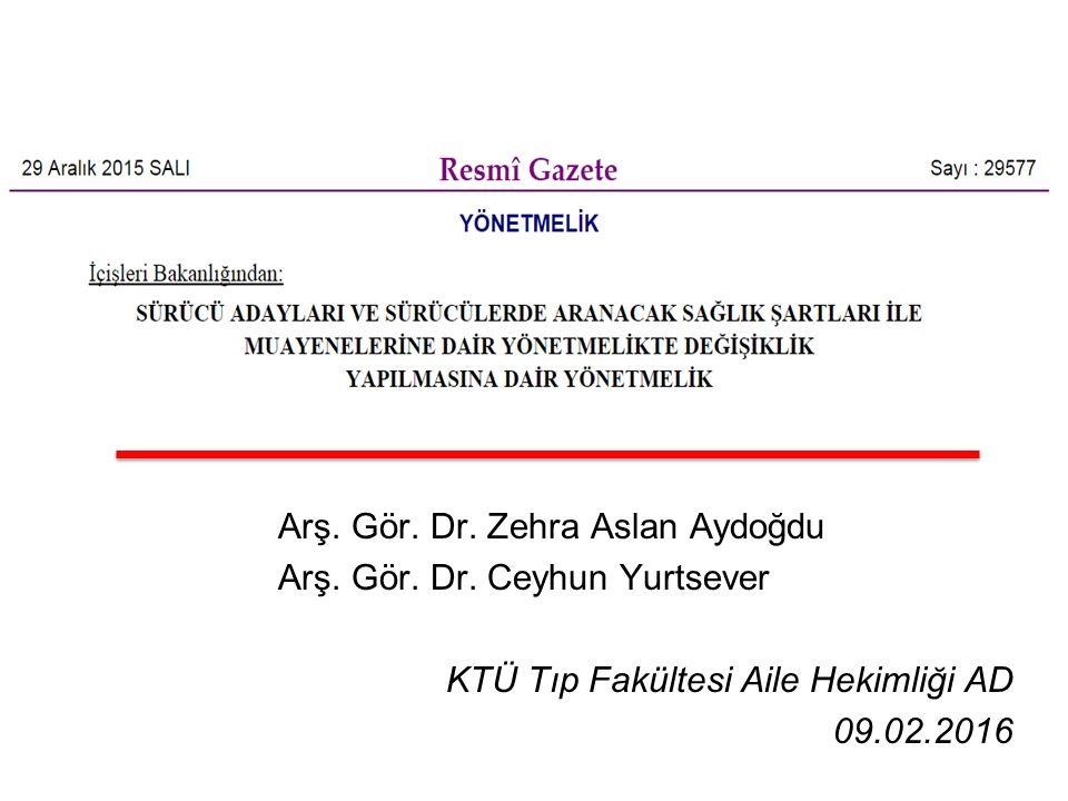 Arş. Gör. Dr. Zehra Aslan Aydoğdu