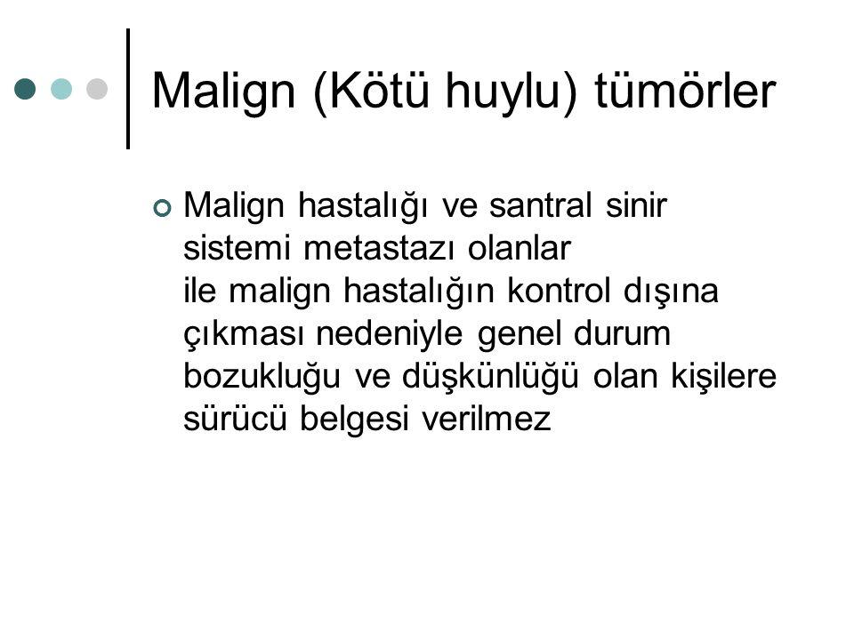 Malign (Kötü huylu) tümörler
