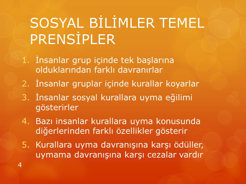 SOSYAL BİLİMLER TEMEL PRENSİPLER