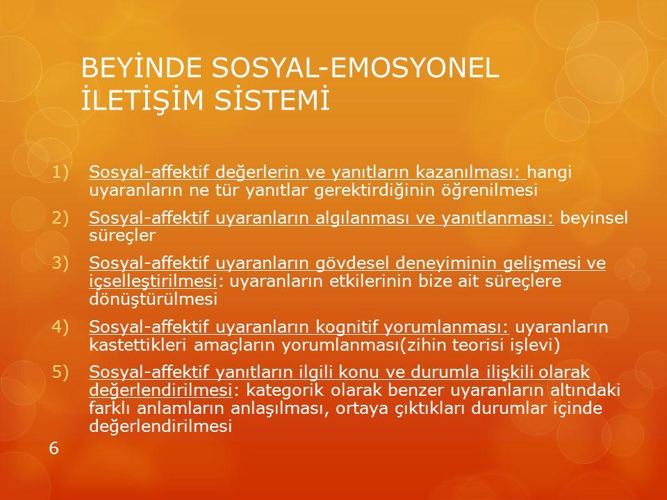 BEYİNDE SOSYAL-EMOSYONEL İLETİŞİM SİSTEMİ