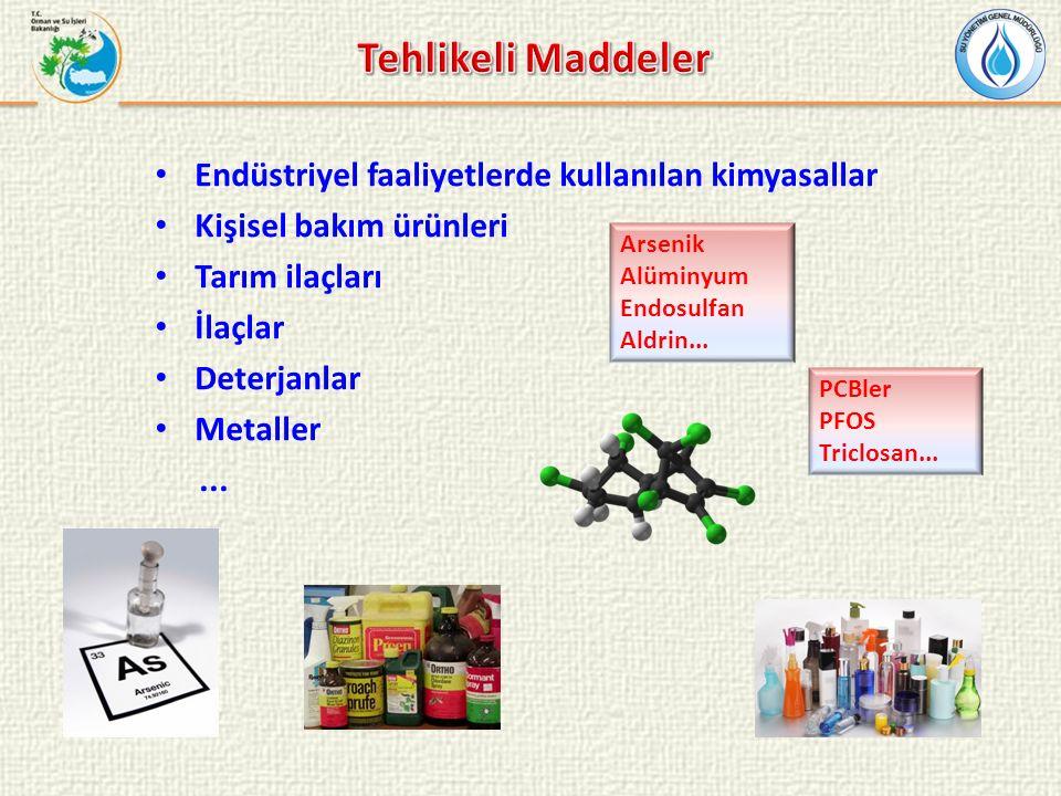 Tehlikeli Maddeler Endüstriyel faaliyetlerde kullanılan kimyasallar