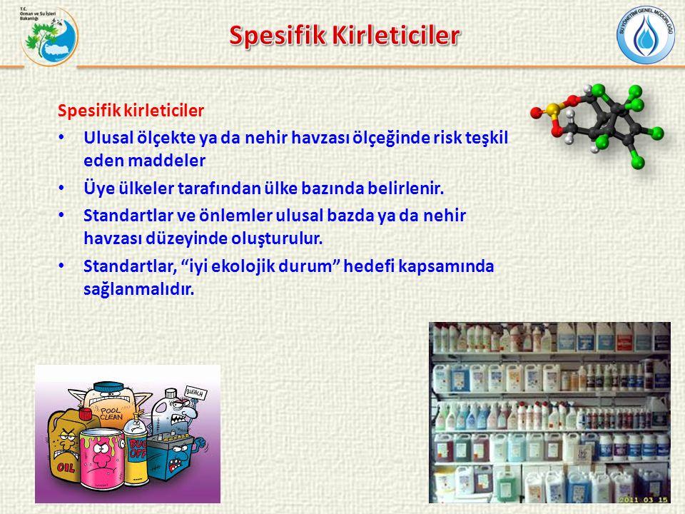 Spesifik Kirleticiler