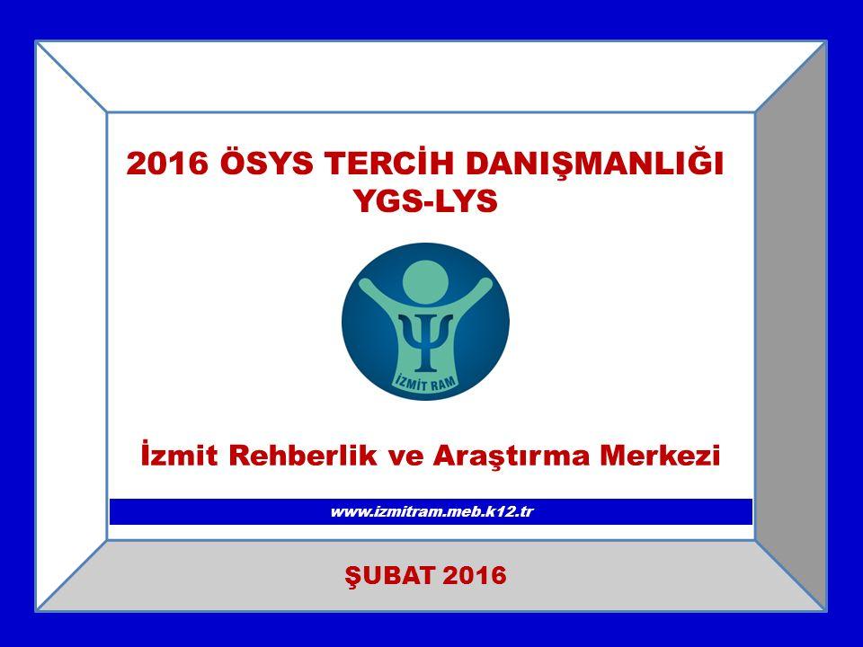 2016 ÖSYS TERCİH DANIŞMANLIĞI YGS-LYS