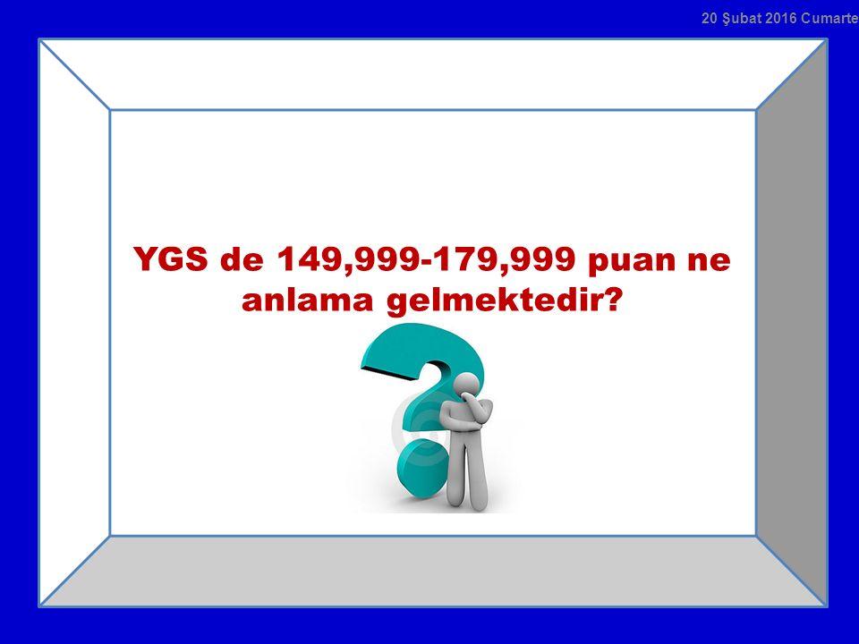YGS de 149,999-179,999 puan ne anlama gelmektedir