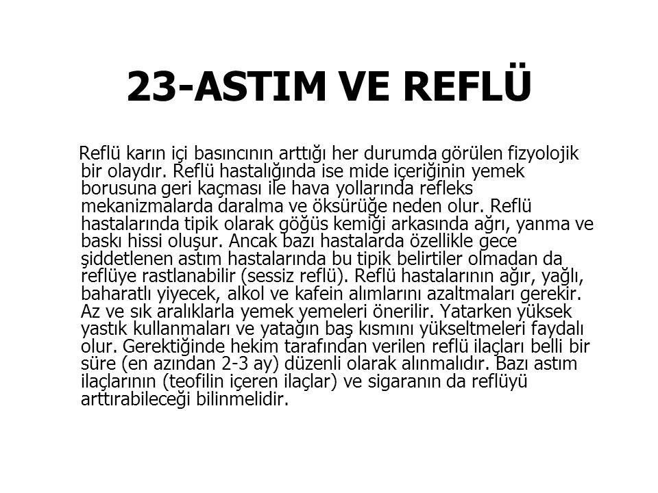 23-ASTIM VE REFLÜ