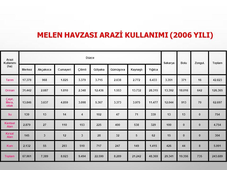 MELEN HAVZASI ARAZİ KULLANIMI (2006 YILI)