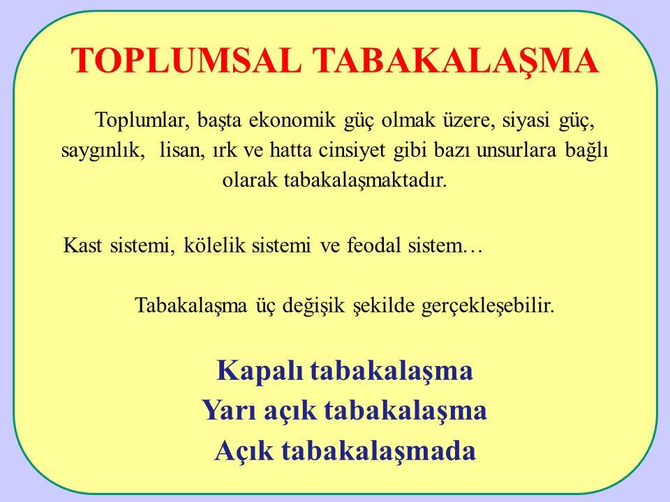 TOPLUMSAL TABAKALAŞMA